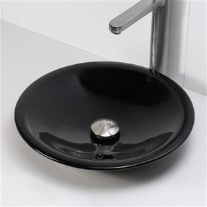 Decolav Nadine Obsidian Above-Counter Resin Round Sink