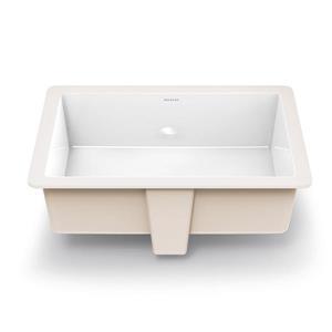 Decolav Lilli Classically Redefined White Rectangular Undermount Bathroom Sink