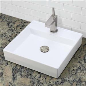 Decolav Aurelia Above-Counter White Square Sink