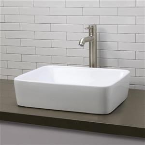 Decolav Gemma Above-Counter Rectangular White Sink