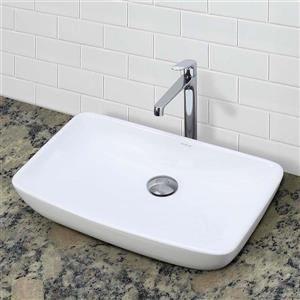 Decolav Jasmine Above-Counter Rectangular White Sink