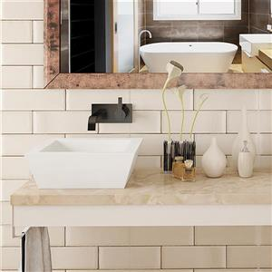 Decolav Kloey Above-Counter Square White Vessel With Overflow