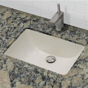 Decolav Callensia Undermount Bisque Rectangular Sink With Overflow