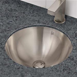 Decolav Hayley Round Brushed Sink With Overflow