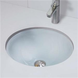 Decolav Translucent Collection - Round Undermount Lavatory - Frosted Crystal
