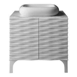 Decolav Sophia 30-in White Bathroom Vanity with Marble Top