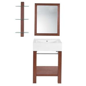 Decolav Infusion 24-in Cognac Wall Mointed Lavatory Console
