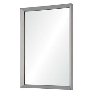 Notre Dame Design Maverick Mirror - 30-in x 42-in- Metal -Chrome