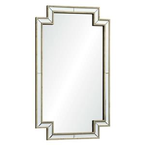 Notre Dame Design Raton Mirror - 24-in x 40-in- Wood - Silver