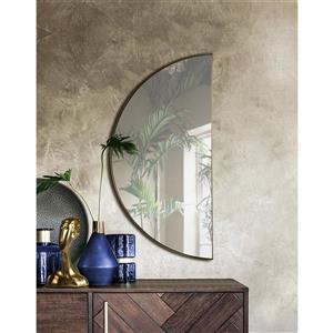 Notre Dame Design Halfmoon Mirror - 20.5-in x 40-in- Metal