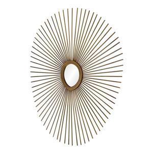 Notre Dame Design Seattle Mirror - 27-in x 30-in- Metal - Copper
