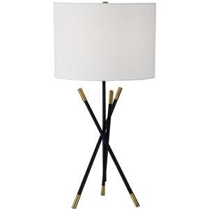 Notre Dame Design Hudswell Lamp - 27-in - Metal - White