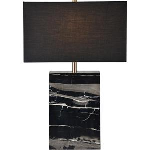 Notre Dame Design Rydell Lamp - 23-in - Fabric - Black