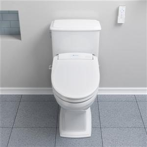 Brondell Swash SE600 Bidet Seat Elongated White 14.9-in x 20.7-in Plastic White