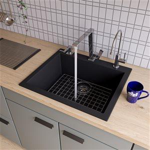 24-in Drop-In Single Bowl Kitchen Sink