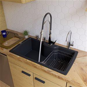 35-in Drop-In Single Bowl Kitchen Sink