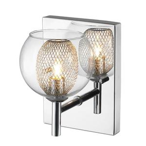 Z-Lite Auge 6.69-In x 5.51-In x 5.12-In Chrome Wall Sconce