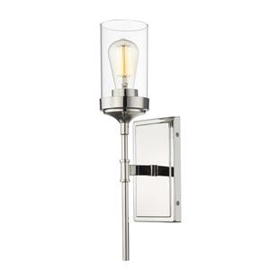 Z-Lite Calliope 17.50-In x 4.50-In x 5.25-In Polished Nickel Wall Sconce