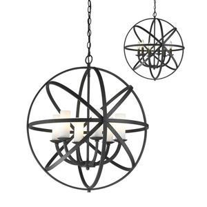 Z-Lite Aranya 23.82-In x 26.25-In Bronze 6-Light Pendant