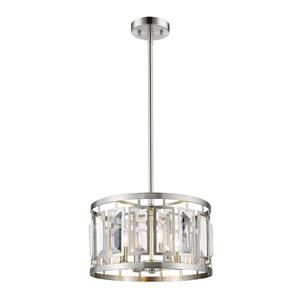 Z-Lite Mersees 15.6-in Brushed Nickel 4 Light Pendant Light
