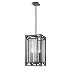 Z-Lite Braum 8.7-in Bronze 3 Light Pendant