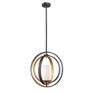 Z-Lite Ashling 14.13-in Bronze Gold 1 Light Mini Pendant