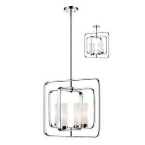 Z-Lite Aideen 16.5-in x 65-in Chrome 4-Light Pendant