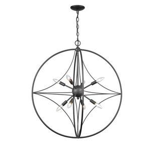 Z-Lite Cortez 30-in Bronze 8-Light Pendant Light