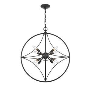 Z-Lite Cortez 24-in Bronze 8-Light Pendant Light