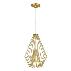 Z-Lite Quintus 12.25-In Metallic Gold 1-Light Mini Pendant Light
