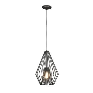 Z-Lite Quintus 12.25-In Bronze 1-Light Mini Pendant Light