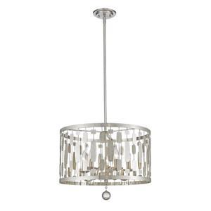 Z-Lite Almet 20-In Brushed Nickel 5-Light Pendant Light