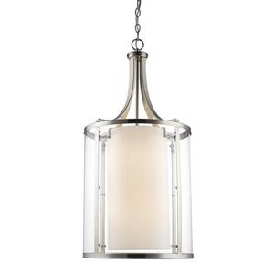 Z-Lite Willow 8-Light Pendant - 16-in - Brushed Nickel
