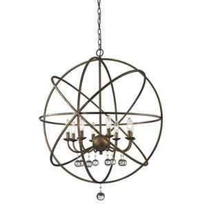 Z-Lite Acadia 30-in x 35.5-in Bronze Gold 8-Light Pendant