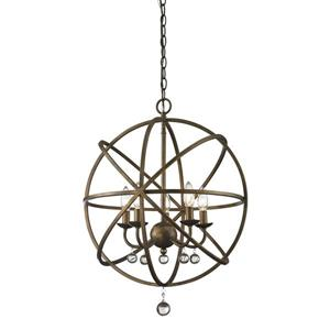 Z-Lite Acadia 20-in x 25-in Bronze Gold 5-Light Pendant
