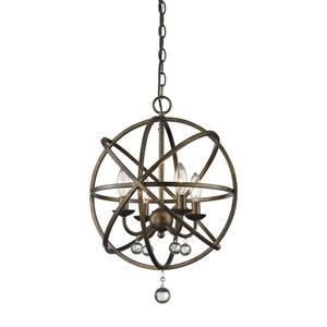 Z-Lite Acadia 16-in x 21-in Bronze Gold 4-Light Pendant