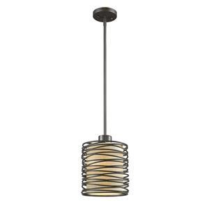 Z-Lite Zinnia 6-In Bronze 1-Light Mini Pendant Light
