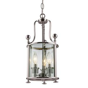 Z-Lite Wyndham 3-Light Pendant - 8.5-in - Brushed Nickel