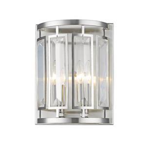 Z-Lite Mersesse Brushed Nickel 2-Bulb Wall Sconce