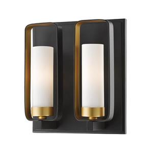 Z-Lite Aideen 10.25-In x 9-In x 4-In 2 Light Golden Bronze Wall Sconce