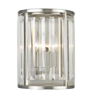 Z-Lite Monarch 2 Light Brushed Nickel Wall Sconce