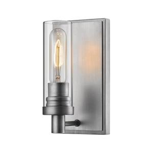 Z-Lite Persis 1 Light Antique Silver Wall Sconce