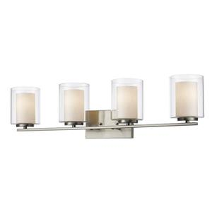Z-Lite Willow Brushed Nickel 4 Light Vanity Light