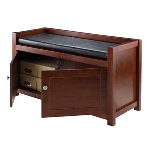 Winsome Wood Charleston 45.86-Lbs 21.65-In x 39.76-In x 15.35-In Walnut/Espresso Indoor Storage Bench