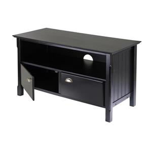Winsome Wood Timber Black TV Stand