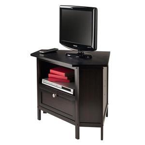 Winsome Wood Zena Espresso Corner TV Stand
