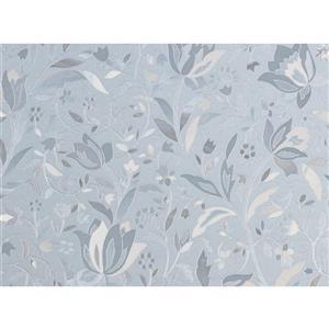 "Brewster Wallcovering Cut Floral Window Premium Film - 24"" x 47"""