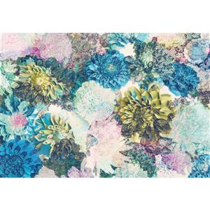 """Brewster Wallcovering Frisky Flowers Wall Mural - 100"""" x 145"""""""