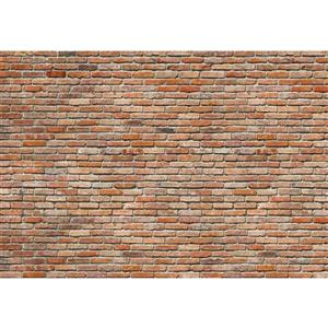 "Brewster Wallcovering Brick Wall Mural - 100"" x 145"""