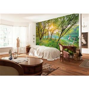 "Brewster Wallcovering Spring Lake Wall Mural - 100"" x 145"""